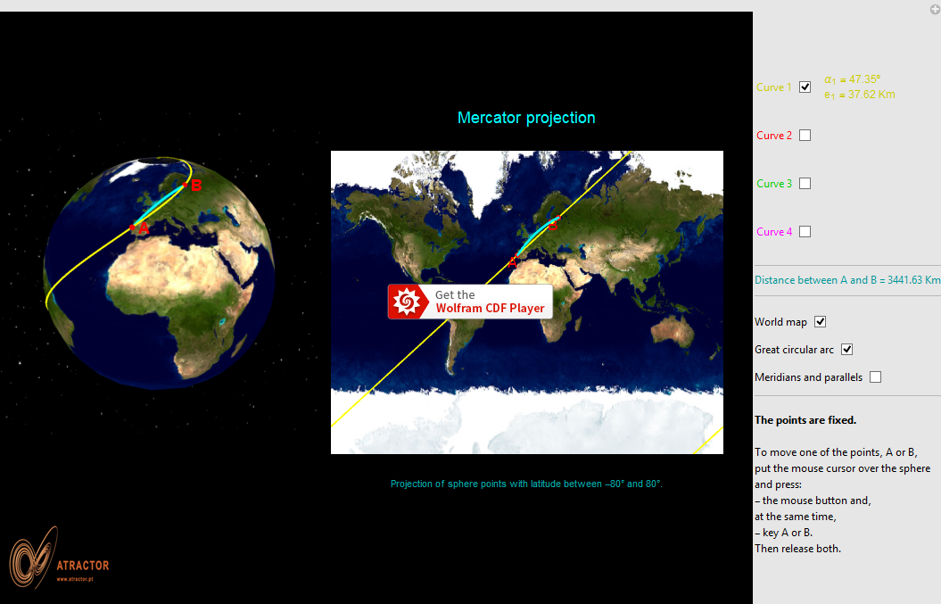 Mercator projection - Loxodrome